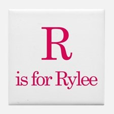 R is for Rylee Tile Coaster
