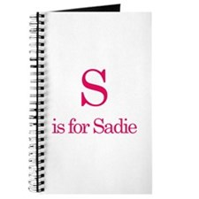 S is for Sadie Journal