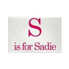 S is for Sadie Rectangle Magnet