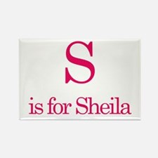 S is for Sheila Rectangle Magnet