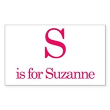 S is for Suzanne Rectangle Decal