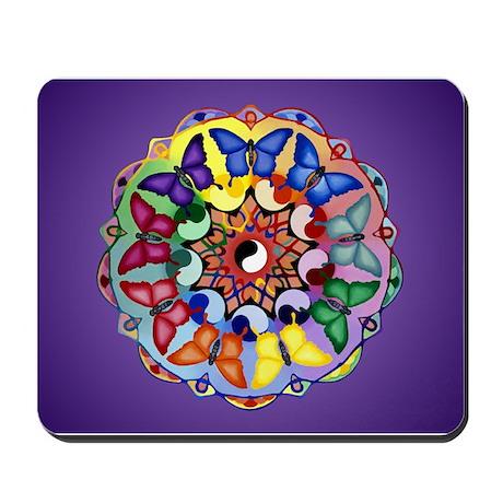Yin/Yang Butterfly Mandala Mousepad