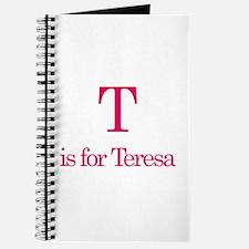 T is for Teresa Journal