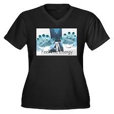 Energy Women's Plus Size V-Neck Dark T-Shirt