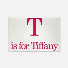 T is for Tiffany Rectangle Magnet (10 pack)