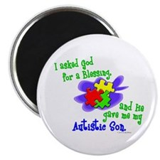 """Blessing 2 (Autistic Son) 2.25"""" Magnet (100 pack)"""