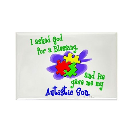 Blessing 2 (Autistic Son) Rectangle Magnet (100 pa