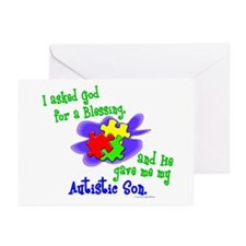 Blessing 2 (Autistic Son) Greeting Cards (Pk of 20