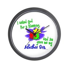 Blessing 2 (Autistic Son) Wall Clock