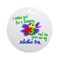Blessing 2 (Autistic Son) Ornament (Round)