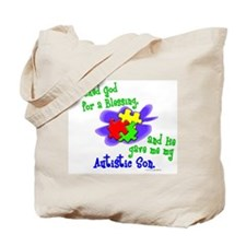 Blessing 2 (Autistic Son) Tote Bag