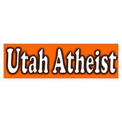 Utah Atheist Bumper Bumper Sticker
