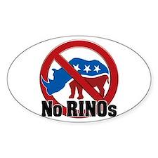 No RINOs! v2 Oval Decal