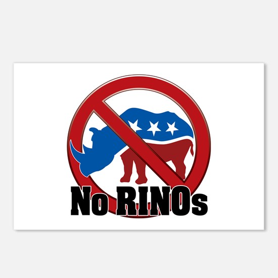 No RINOs! v2 Postcards (Package of 8)