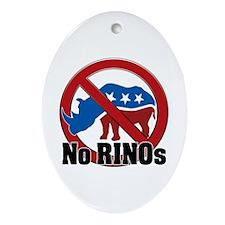No RINOs! v2 Oval Ornament