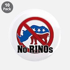 "No RINOs! v2 3.5"" Button (10 pack)"