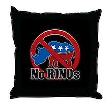 No RINOs! v2 Throw Pillow
