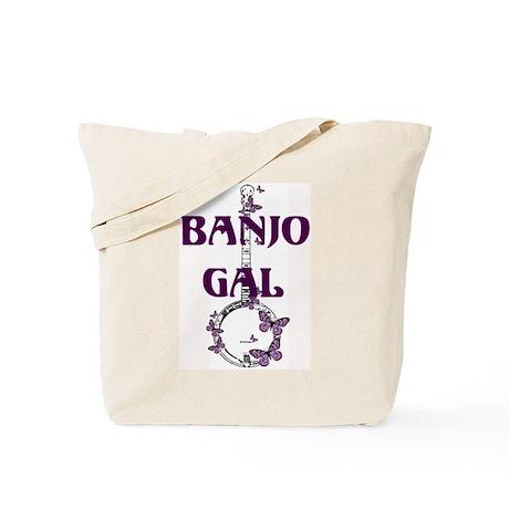 Butterfly Banjo Tote Bag