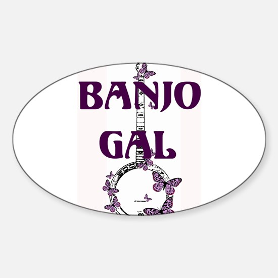 Butterfly Banjo Oval Decal