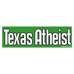 Texas Atheist Bumper Bumper Sticker