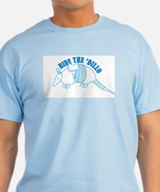 Ride the Dillo Funny Adult T-Shirt Sex Humor Rock