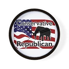Conservative Republican Wall Clock