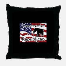 Conservative Republican Throw Pillow