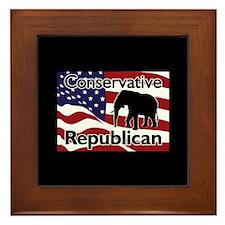 Conservative Republican Framed Tile