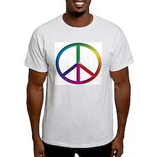 Peace Sign (Tie Dye) Ash Grey T-Shirt