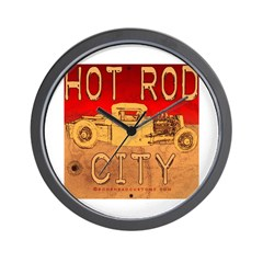 HOT ROD CITY Wall Clock