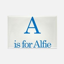 A is for Alfie Rectangle Magnet