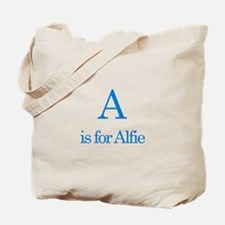 A is for Alfie Tote Bag