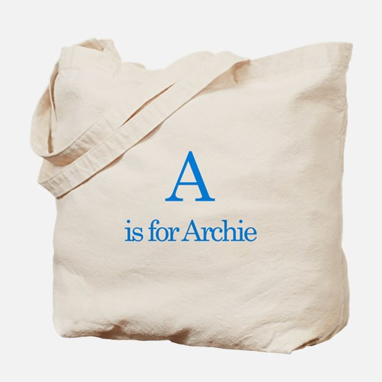 A is for Archie Tote Bag
