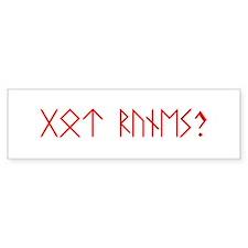 Got runes? Bumper sticker