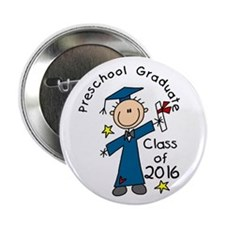 "Boy Pre-K Grad 2014 2.25&Qu 2.25"" Button (10 Pack)"