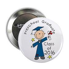 """Boy Pre-K Grad 2014 2.25&Quot; 2.25"""" Button"""