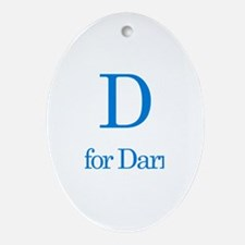 D is for Darryl Oval Ornament