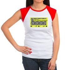 Blackwhite Hiphapa In A Women's Cap Sleeve T-S