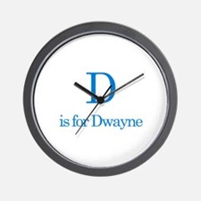 D is for Dwayne Wall Clock