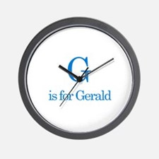 G is for Gerald Wall Clock