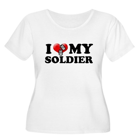I (heart) my Soldier Women's Plus Size Scoop Neck