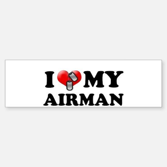 I (heart) my Airman Bumper Bumper Bumper Sticker