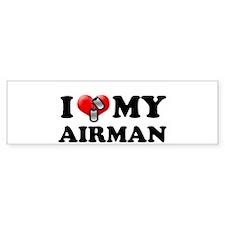 I (heart) my Airman Bumper Bumper Sticker