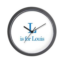 L is for Louis Wall Clock