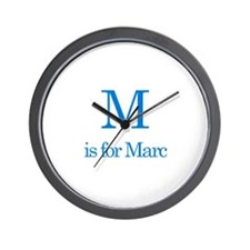 M is for Marc Wall Clock