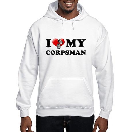 I (heart) my Corpsman Hooded Sweatshirt