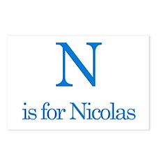 N is for Nicolas Postcards (Package of 8)