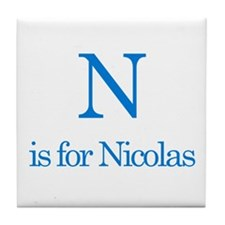 N is for Nicolas Tile Coaster