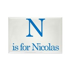 N is for Nicolas Rectangle Magnet