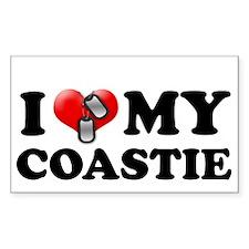 I (heart) my Coastie Rectangle Decal